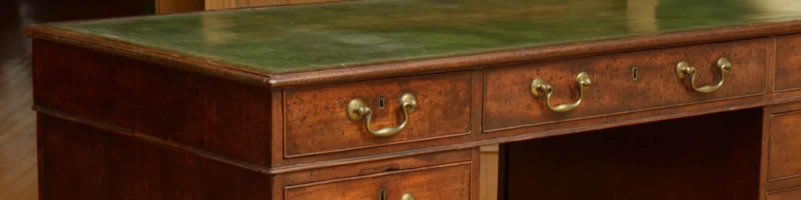 Desk re-leathering Dover