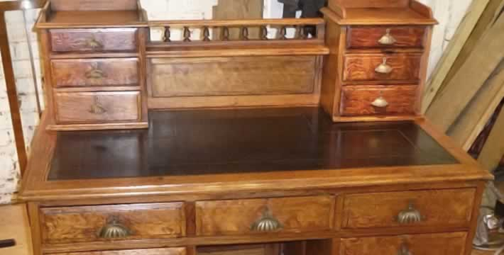 Desk re-leathering Folkestone