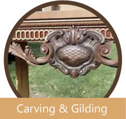 Antique furniture carving Kent